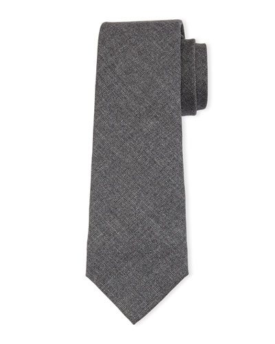 Wool Tie, Medium Gray