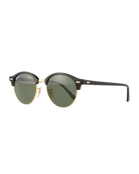 Round Monochromatic Clubmaster® Sunglasses