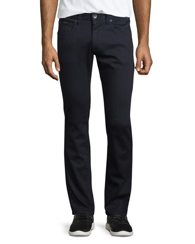 Five-Pocket Dark-Wash Stretch Denim Jeans, Navy