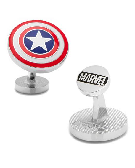 Captain American Shield Cuff Links
