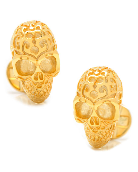 Cufflinks Inc. Vermeil Fatale Skull Cuff Links