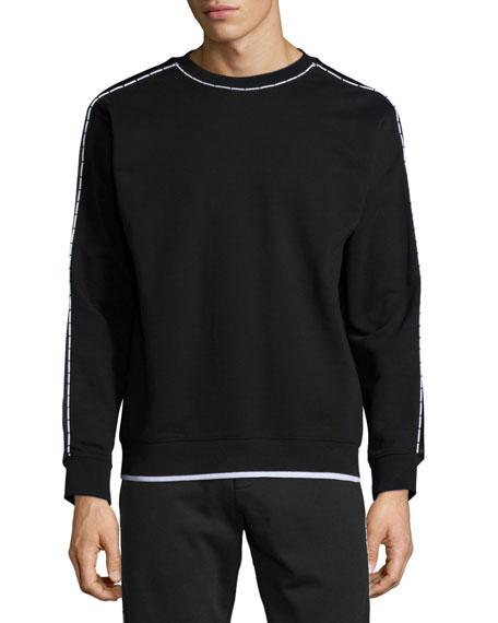 McQ Alexander McQueen Contrast-Trim Long-Sleeve Sweater, Darkest