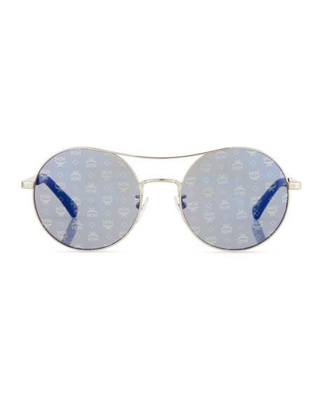 Holographic 3D Visetos Round Sunglasses