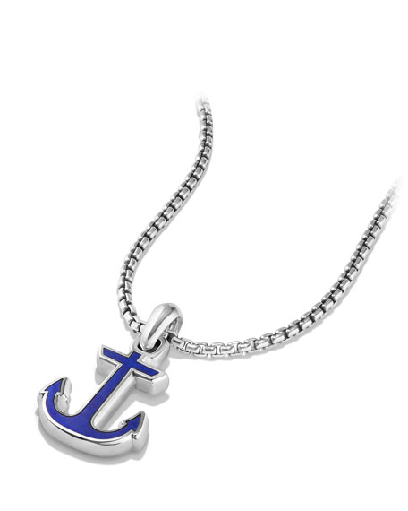 Maritime Anchor Amulet w/Lapis Inlay