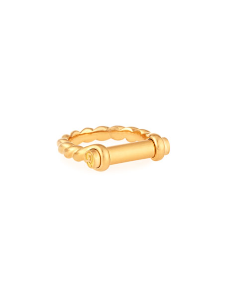 David Yurman 7mm 18K Gold Maritime Shackle Ring,