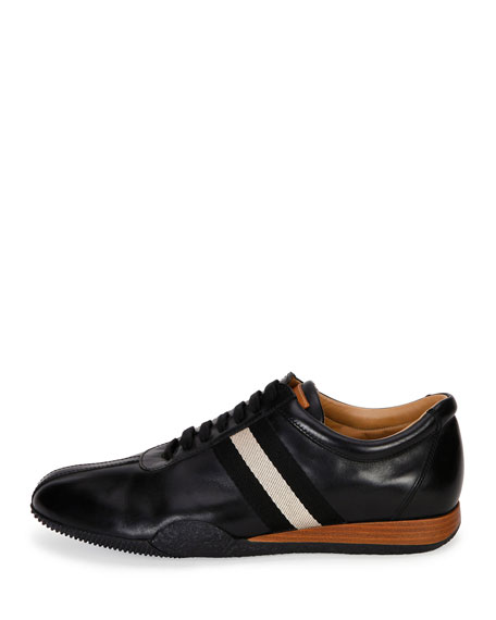 Men's Frenz Leather Low-Top Sneaker, Black