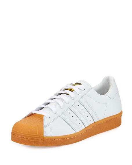 Adidas Men's Superstar '80s DLX Sneaker, White Metallic