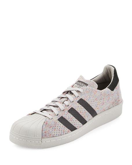 Adidas Men's Superstar 80s Primeknit Sneaker, White/Black