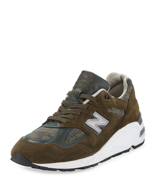 1186d3385c16 New Balance Men s 990 Distinct Leather-Suede Sneaker
