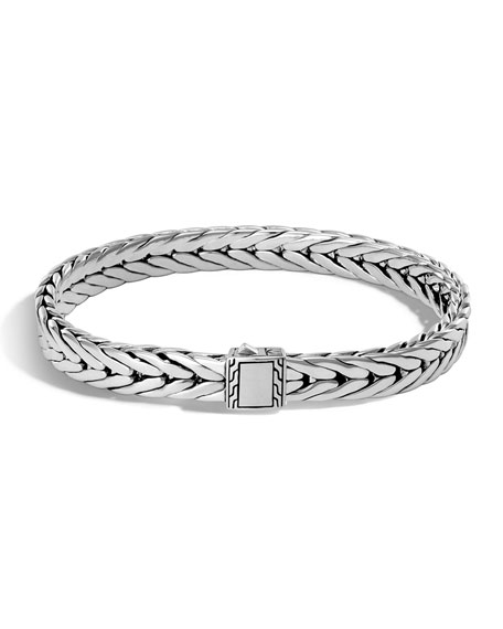 Men's Small Classic Chain Sterling Silver Cuff Bracelet