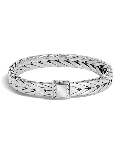 Men's Medium Classic Chain Sterling Silver Cuff Bracelet