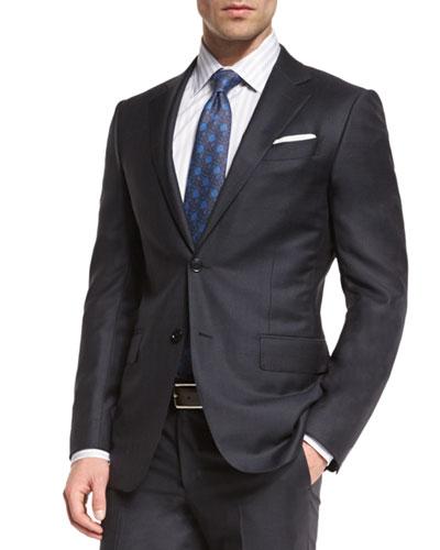 Graffiato Trofeo Wool Two-Piece Suit, Charcoal