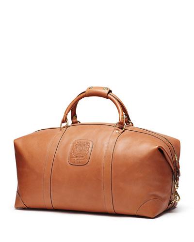 Cavalier II No. 97 Medium Leather Duffel Bag, Vintage Chestnut