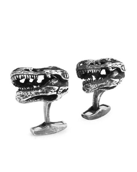 Tateossian Sterling Silver T-Rex Cuff Links EKIhVyUp