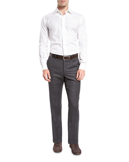 Benson Standard-Fit Grid Trousers