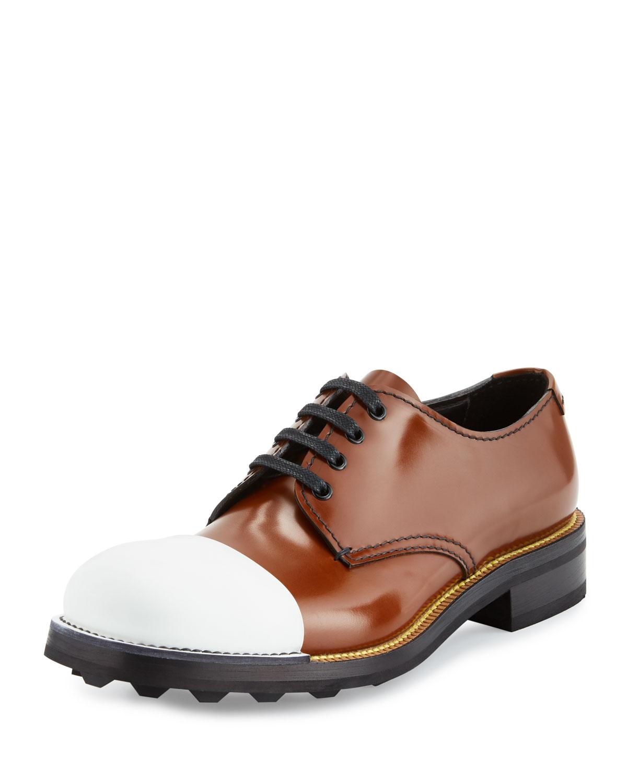 115a8ed879ab Prada Cap-Toe Leather Oxford