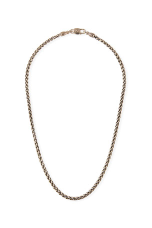 "Konstantino Men's Wheat Chain Necklace, 20""L"