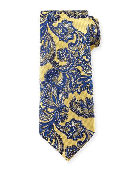 Ermenegildo Zegna Floral Vine-Print Silk Tie