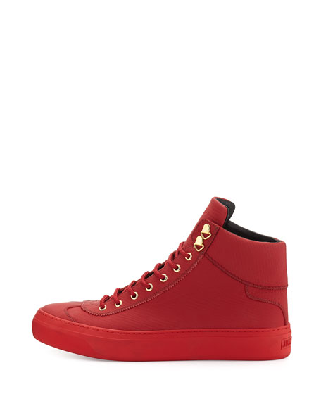 28389c9328e3 Jimmy Choo Argyle Men s Textured Leather High-Top Sneaker