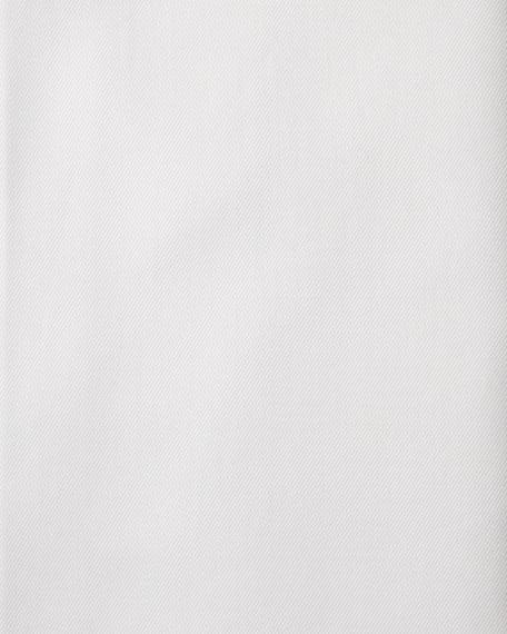 Slim-Fit Solid Trofeo Dress Shirt, White