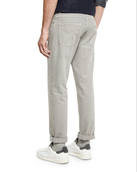 Five-Pocket Cotton Denim Pants