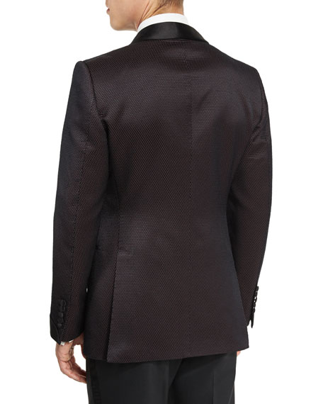 O'Connor Shawl Collar Dinner Jacket, Brown/Black