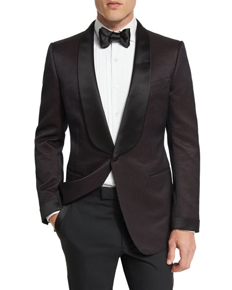 TOM FORD O'Connor Shawl Collar Dinner Jacket, Brown/Black