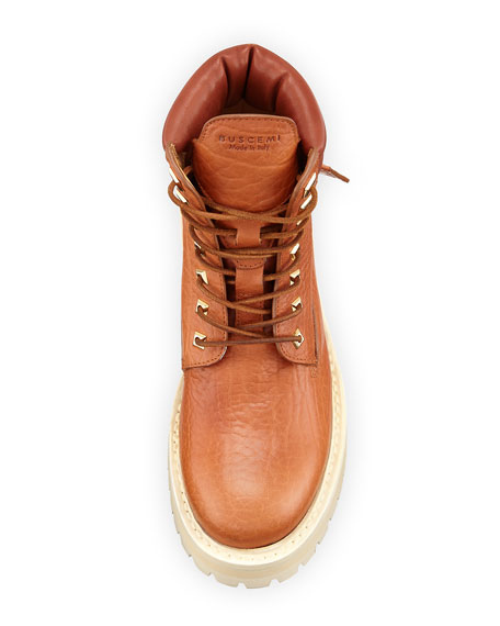 Lace-Up Leather Site Boots, Whiskey