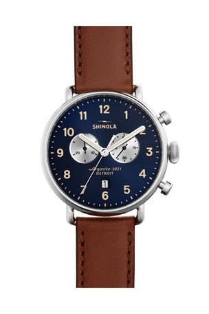 Shinola Men's 43mm Canfield Chronograph Watch