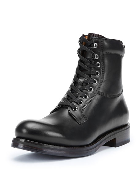 Men's Carter Lace-Up Leather Work Boot, Dark Brown
