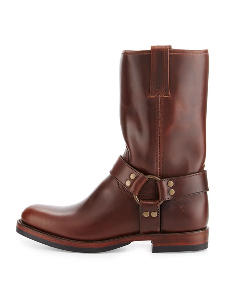 John Addison Leather Harness Boot, Dark Brown