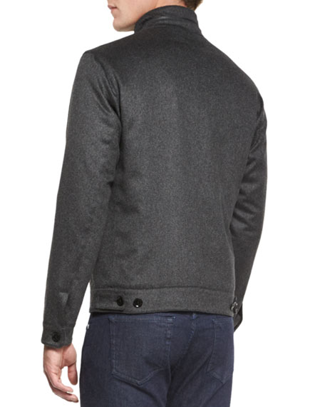 Cashmere Bomber Jacket, Gray