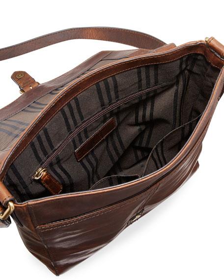 Logan Small Leather Messenger Bag