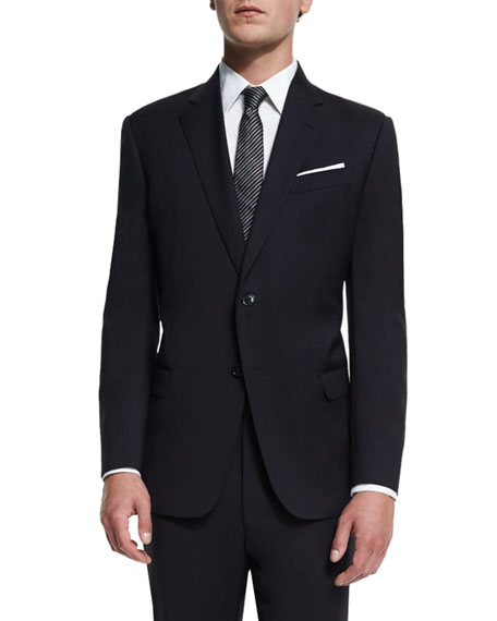 G-Line New Basic Two-Piece Wool Suit, Navy