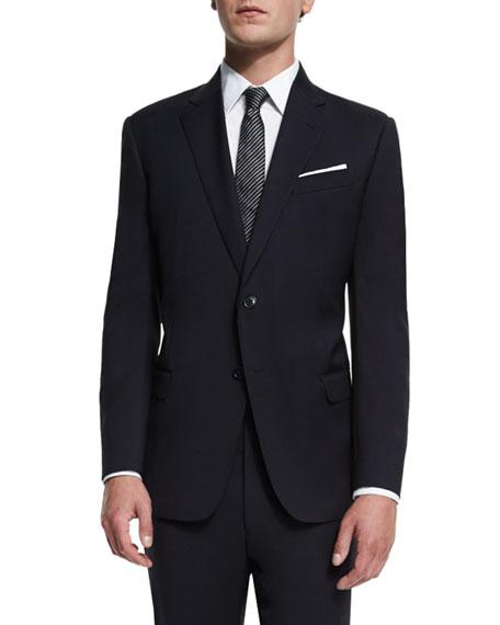 Armani Collezioni G-Line New Basic Two-Piece Wool Suit,
