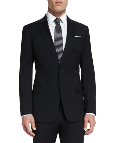 G-Line New Basic Two-Piece Wool Suit, Black