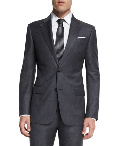 Armani Collezioni G-Line New Basic Sharkskin Two-Piece Wool