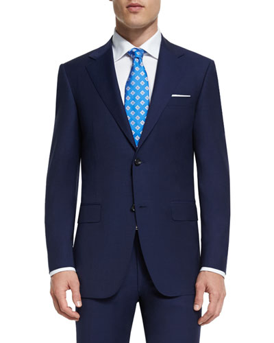 Sienna Contemporary-Fit Solid Two-Piece Travel Suit, Navy