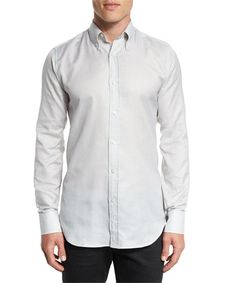 TOM FORD Small Gingham Woven Shirt