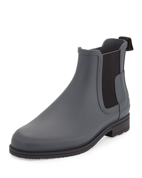 Hunter Boot Men's Original Refined Chelsea Boot, Slate/Black