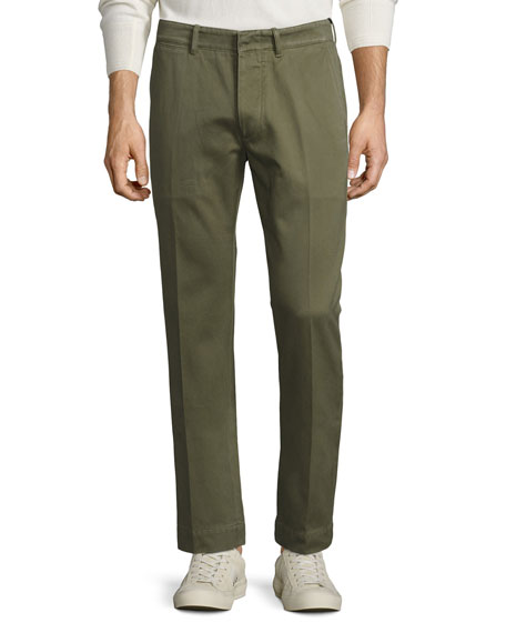 TOM FORD Classic Chino Pants, Olive