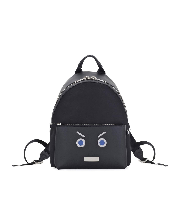 4c44d56cd1 Fendi Face Calfskin Leather Backpack