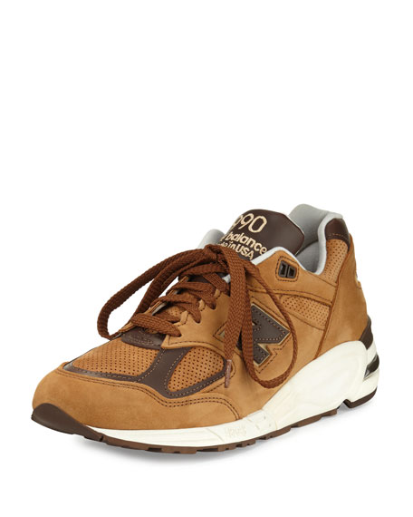 New Balance Men's 990v2 Suede & Leather Sneaker,