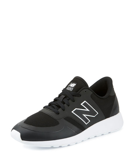 New Balance Men's 420 Re-Engineered Sneaker, Black/White