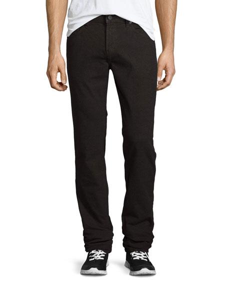 Kane Straight-Leg Herringbone Melange Jeans