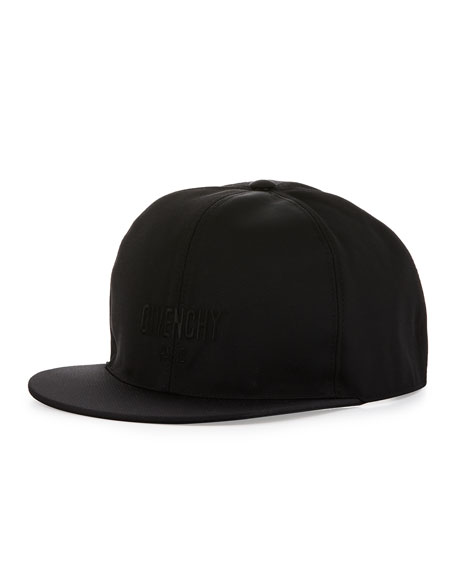 Givenchy Flat Flat-Bill Star Hat, Black