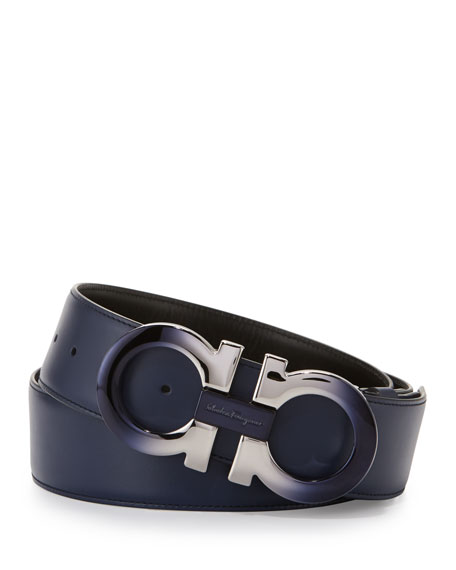 Gancini belt - Blue Salvatore Ferragamo