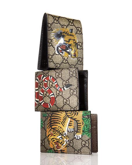 4c1b3f8267fa Gucci Bengal Gg Supreme Wallet Neiman Marcus