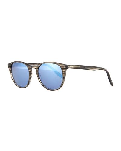 Men's Plimsoul Round Sunglasses, Gray/Blue