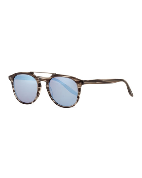 b751b1347c Barton Perreira Men S Rainey Rectangular Top-Bar Sunglasses